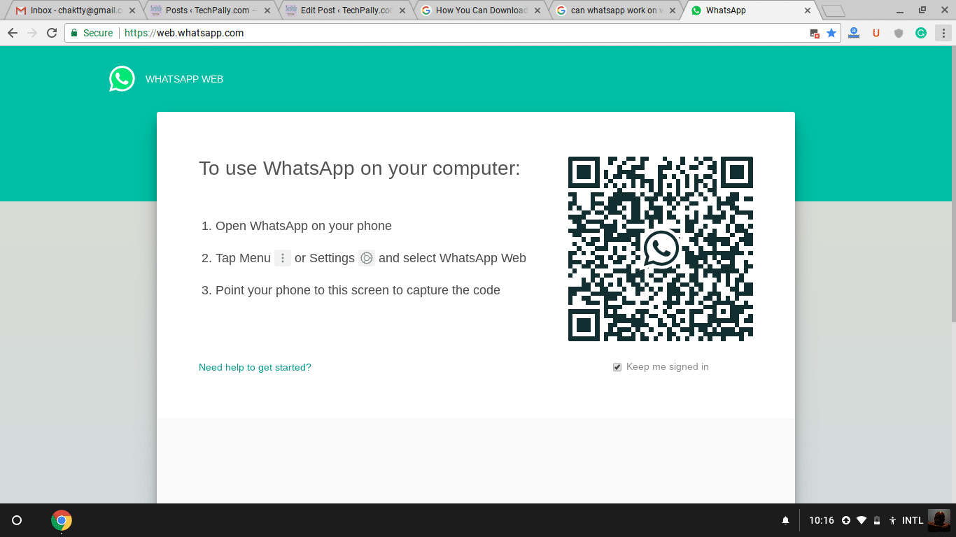 How to connect whatsapp to computer