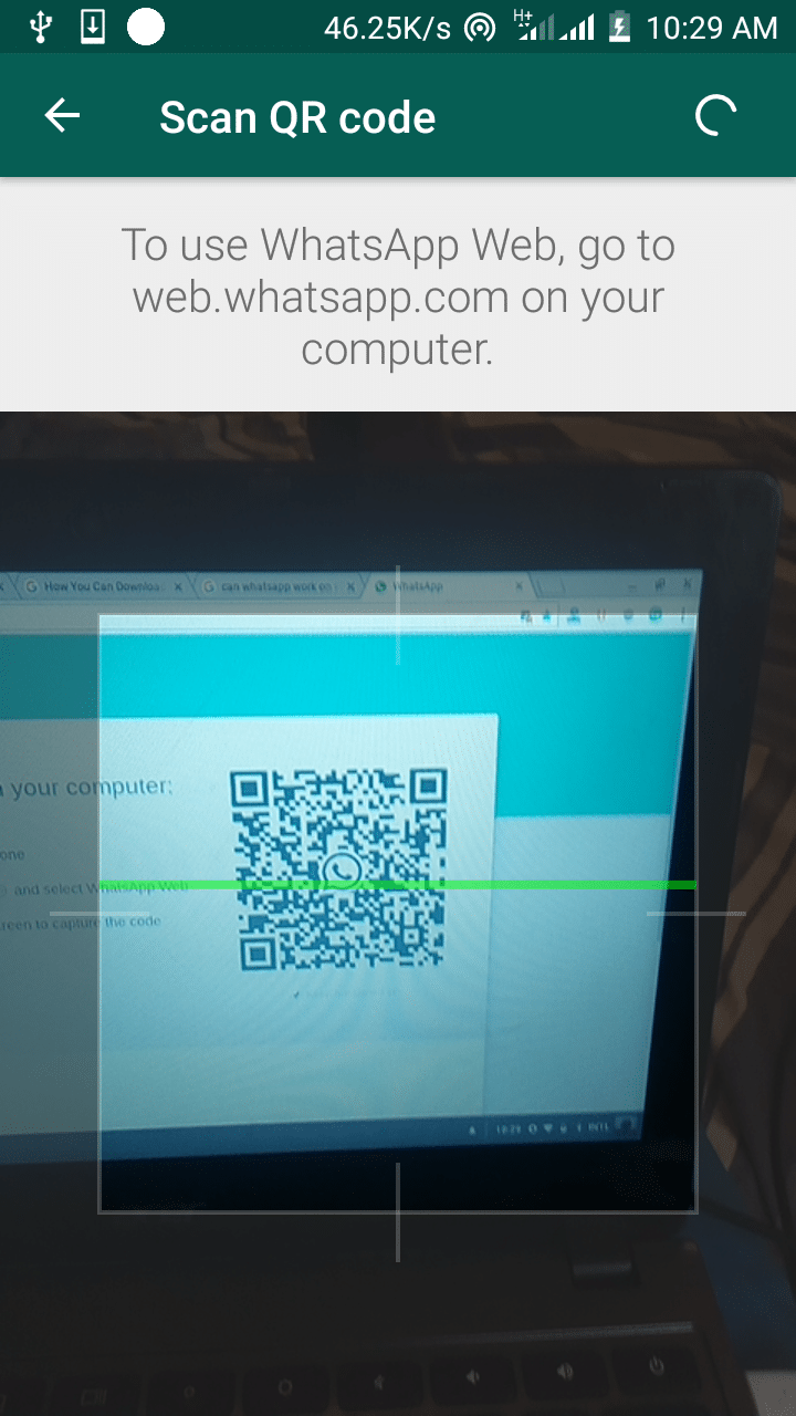 How to scan whatsapp QR code on PC
