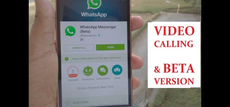 A to Z of Whatsapp Beta Video Calling from Download, install to Settings