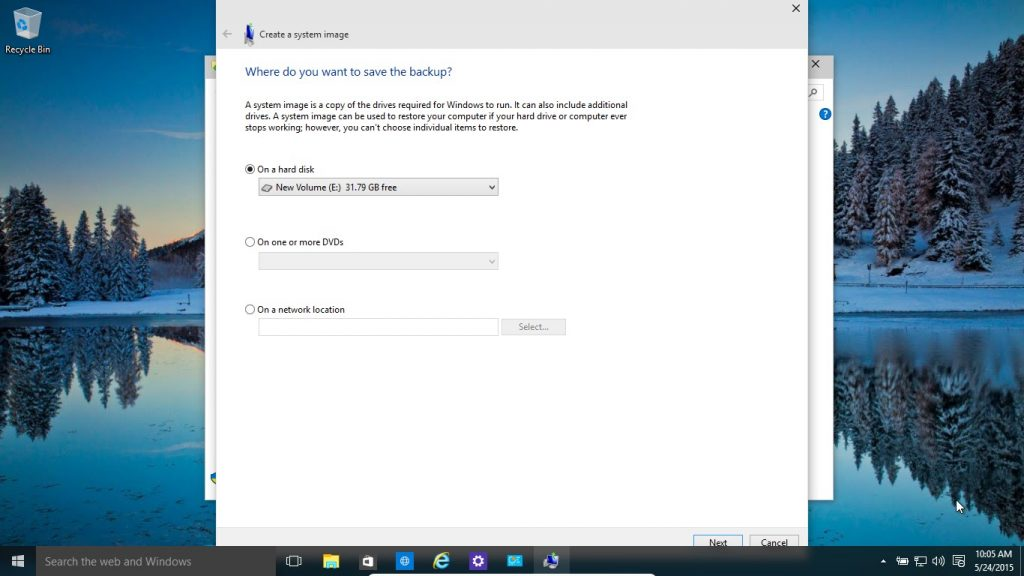 how to backup restore files on w