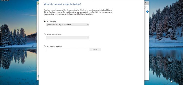 How to Backup & Restore Files on Windows System 7, 8 &10 with System Image