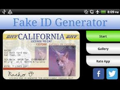 Card Fake Business Id And Generator Driver Student Tax License amp; Photo Tech Names - Barcodes No Addresses
