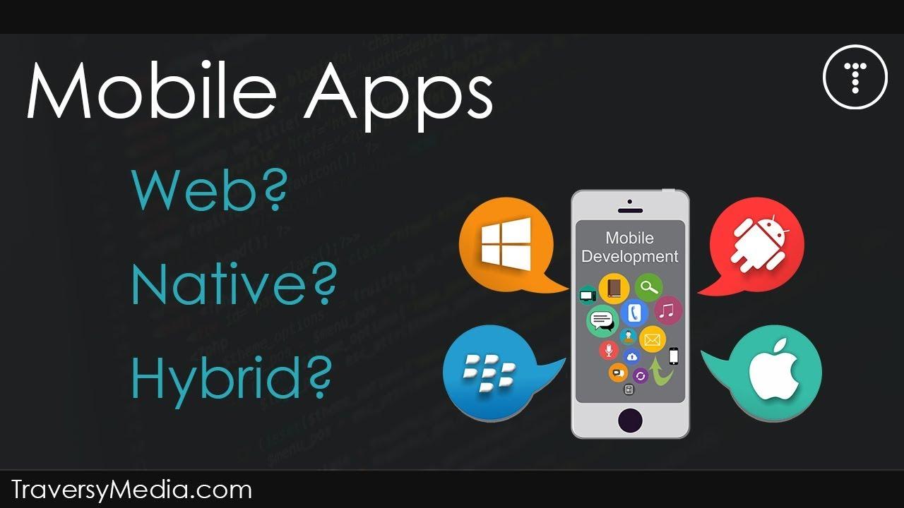 Html5 Native App Vs Hybrid Vs Web App Development Cross-Platform