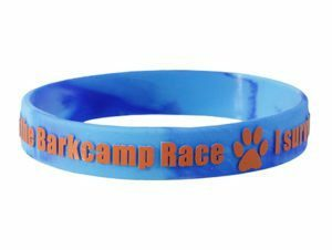 Embossed Printed Wristbands with the texts raised