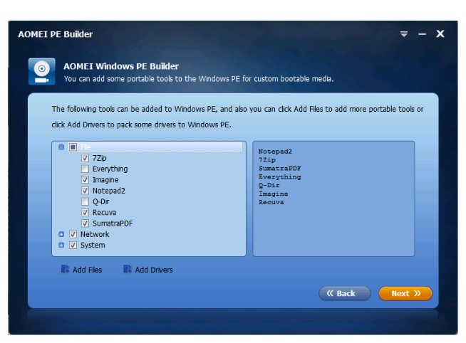 How to use Aomei windows pe builder