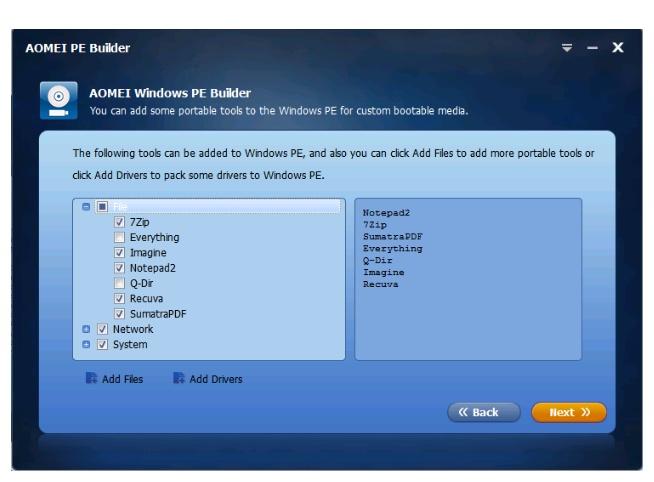How to use Aomei windows pe builder