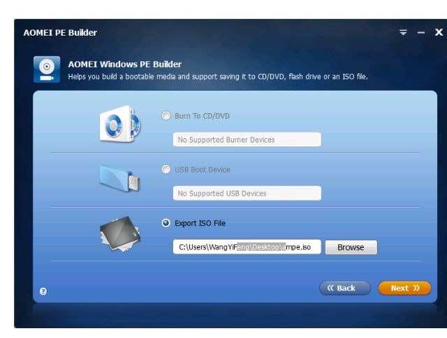 How to build a bootable media and save to external storages
