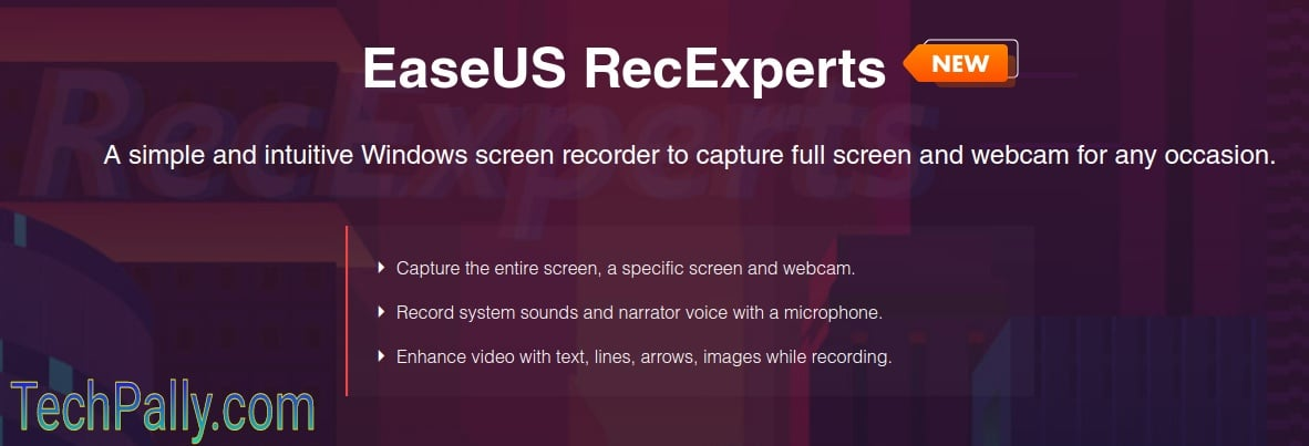 How to use EaseUS RecExperts screen recording software